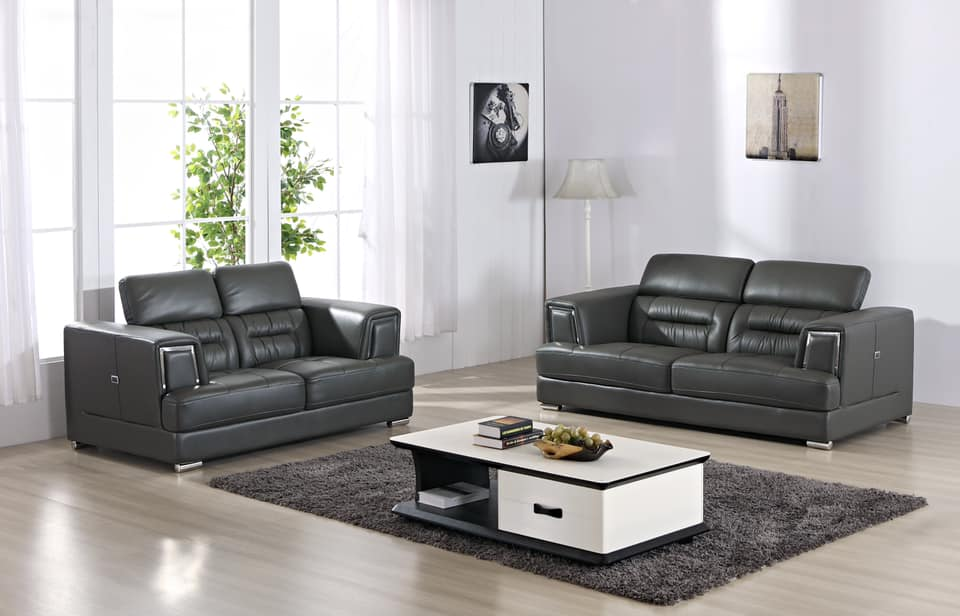 Super Madison 3 2 Seater Sofa Set In Genuine Leather With Chrome Detail Adjustable Headrest Pdpeps Interior Chair Design Pdpepsorg